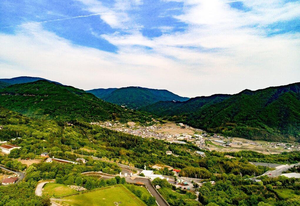 小豆島大観音からみた風景